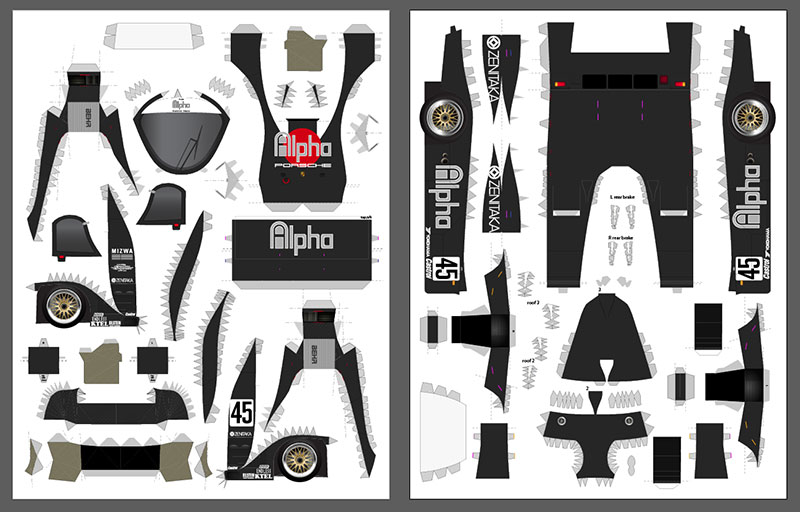 Alpha livery layout