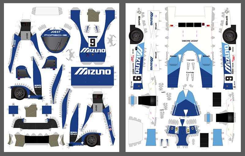 Mizuno livery layout