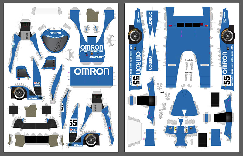 Omron livery layout